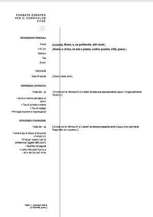 Curriculum Vitae Europeo La Guida Per Creare Il Perfetto Resume