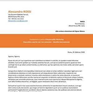 lettera per cv