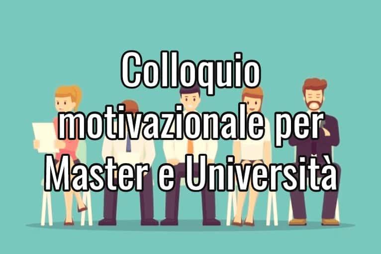 colloquio motivazionale università
