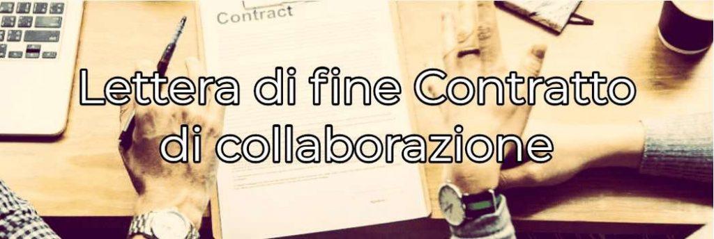 lettera di fine collaborazione esempi